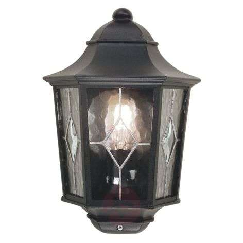 Grand outdoor wall lamp Norfolk with lead glazing