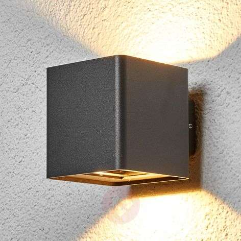 Graphite grey Aaron LED outdoor wall light-9616078-31