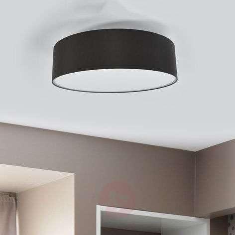 Graphite grey fabric ceiling light Gala, 60 cm