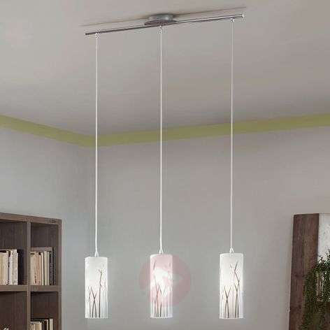 Grass motif - 3-bulb pendant light Rivato
