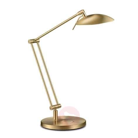 Great LED desk lamp COIRA, matt brass