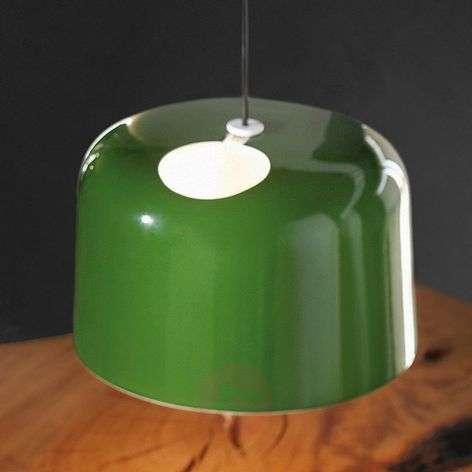 Green glossy ceramic hanging light Add