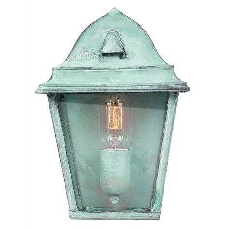 Green outdoor wall lamp St. James Verdi, brass