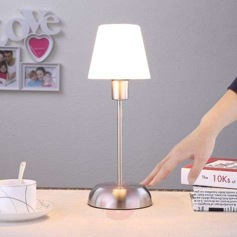 Gregor - table lamp with a glass lampshade