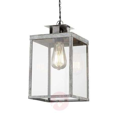 Grey Elsa pendant light in lantern shape