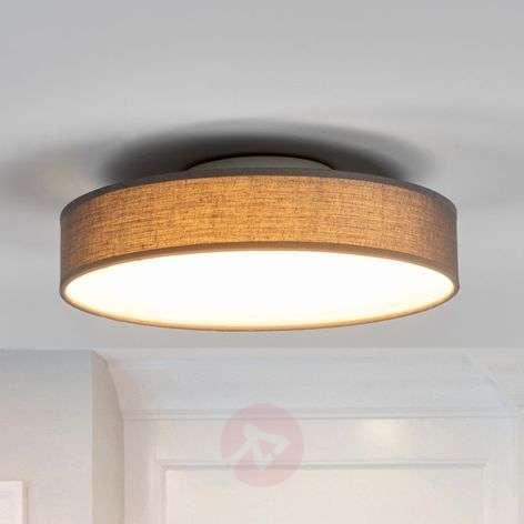 Grey fabric LED ceiling lamp Saira, 30 cm-9625088-32