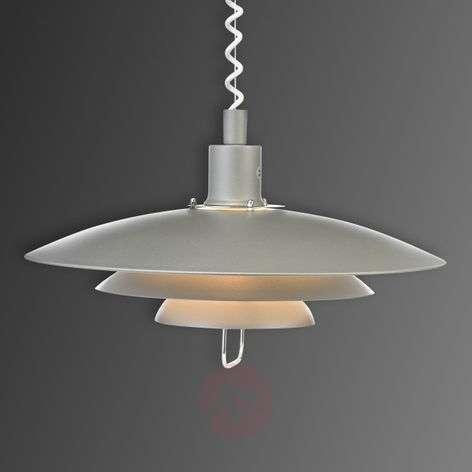 Grey Kirkenes hanging light with r&s mechanism
