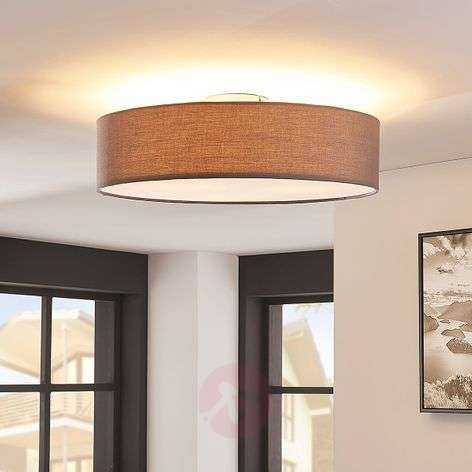 Grey LED fabric ceiling light Sebatin-9620330-32