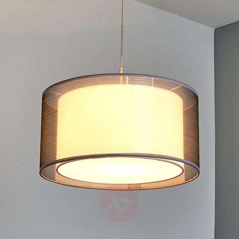 Grey Nica fabric pendant light-4018003-33