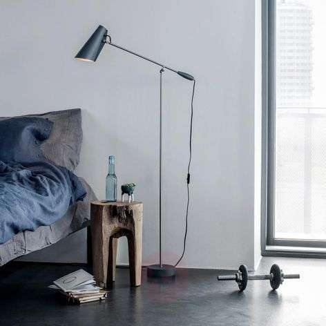 Grey retro floor lamp Birdy