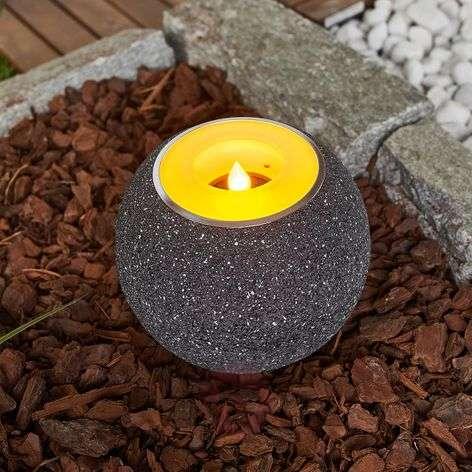 Grey Solar Led Tea Light Dijan Flickering 9945274 31