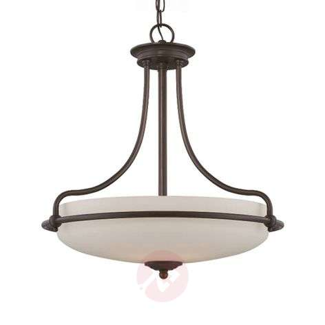 Griffin - hanging lamp with etched glass lampshade