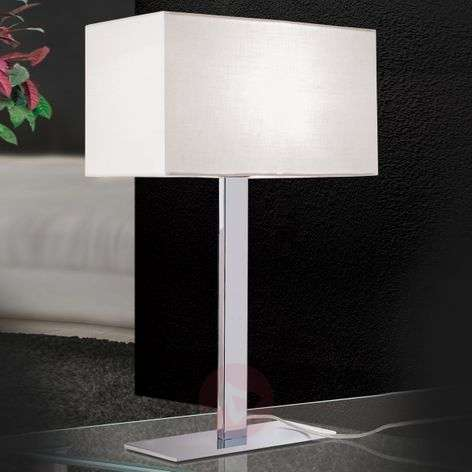 Grigor table lamp with a white linen lampshade