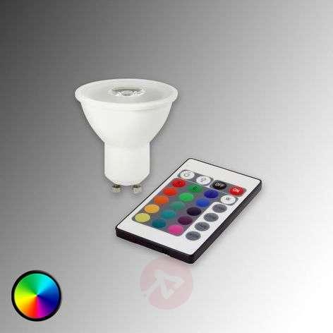 GU10 3W RGB HELSO LED Refl. with remote control