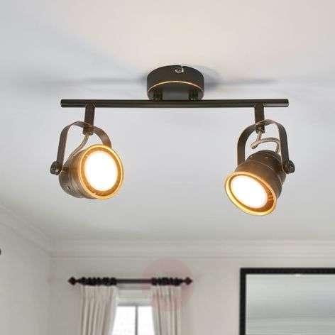 GU10 LED ceiling light Leonor, black and golden