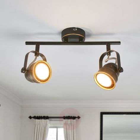 GU10 LED ceiling light Leonor, black and golden-9639067-31