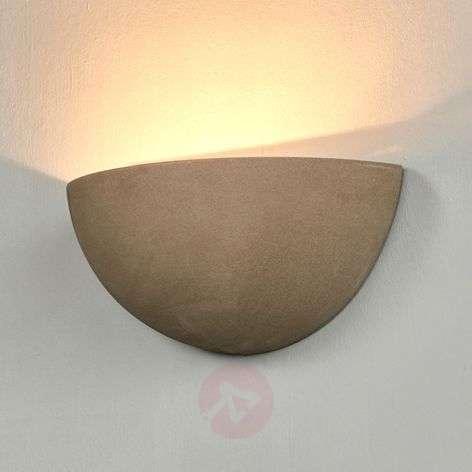 Half-shell concrete wall lamp Milla