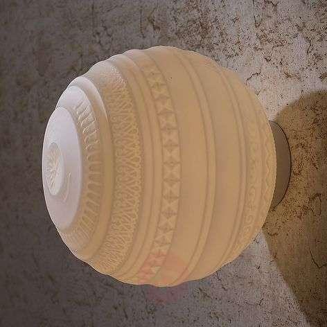 Handblown designer ceiling light Braille
