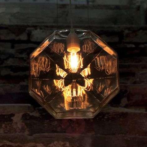 Handblown glass hanging light 24 Karati