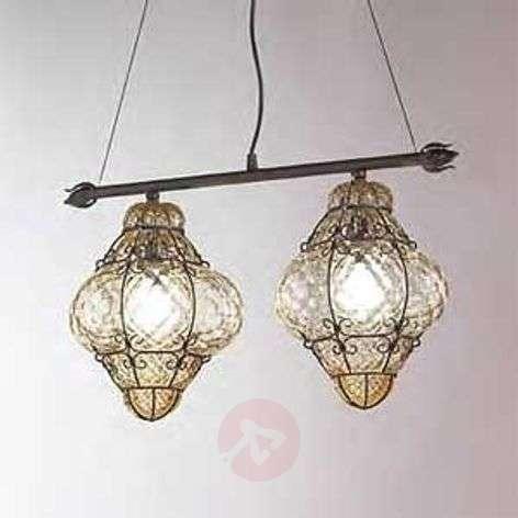 Handmade CLASSIC hanging light 2-bulb