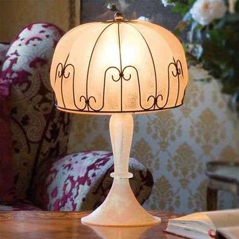 Handmade MEDUSA table lamp, amber