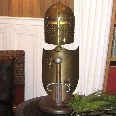 Handmade table lamp Crusader,