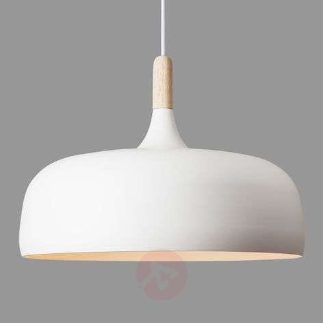 Hanging light Acorn made of aluminium in white-7013039-31