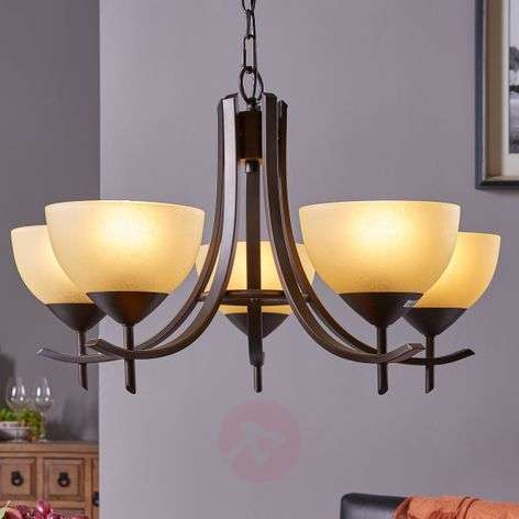 Hanging light Janos with 5 glass shades