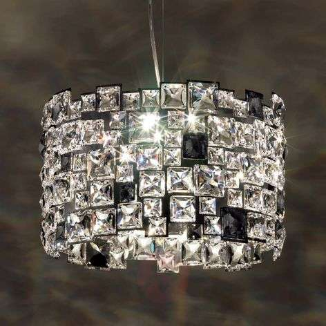 Hanging light Mosaix with Swarovski crystals