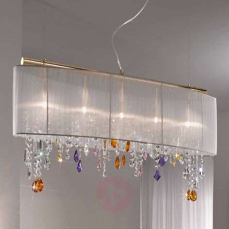 Hanging light PARALUME with crystal elements