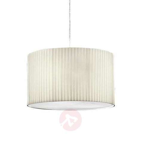 Hanging light Sand with pleated fabric lampshade