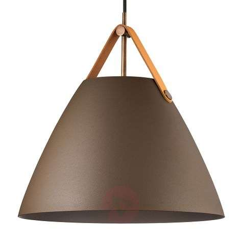 Hanging light Strap with metal shade beige