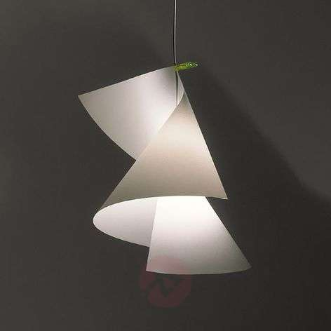 Hanging light Willydilly, variable lampshade shape