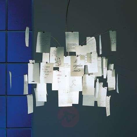 Hanging light Zettel'z 5 with slips of paper