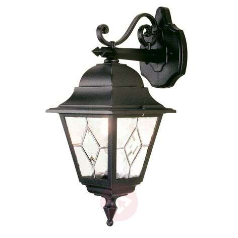 Hanging outdoor wall lamp Norfolk, lead glazed
