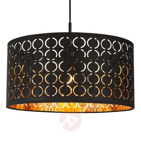 Harald hanging light in an Oriental style black