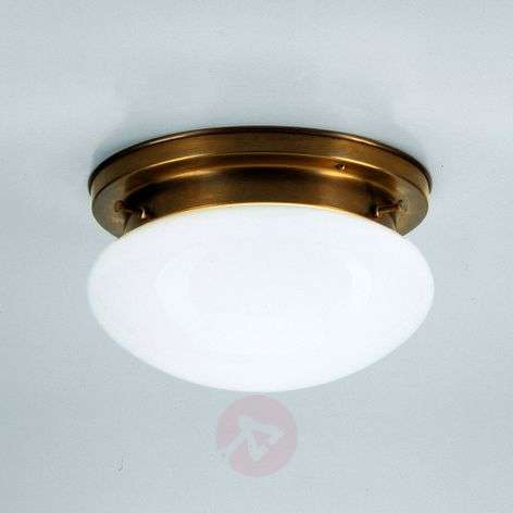 HARRY opal ceiling light with brass