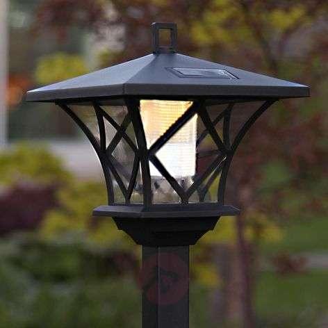 Height-adj. LED solar ground spike light Aron