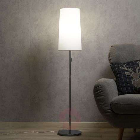 Height-adjustable fabric floor lamp Verona