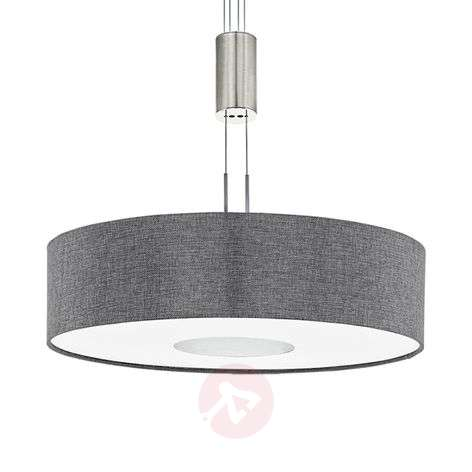 Height-adjustable fabric LED pendant light Romano
