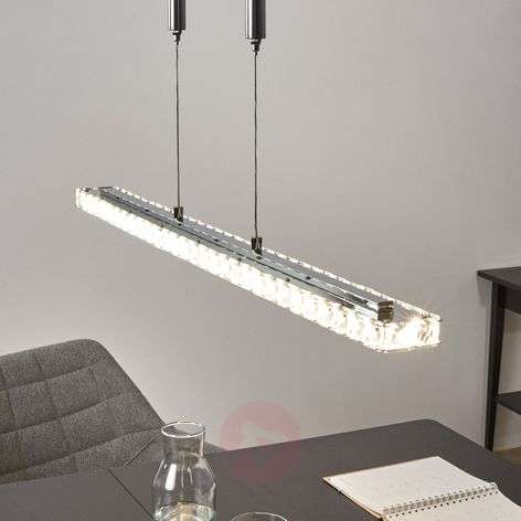 Height-adjustable LED crystal pendant lamp Sesilia