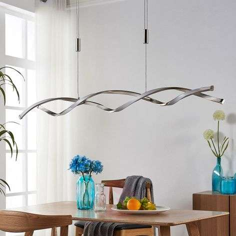Height-adjustable LED hanging lamp Auron