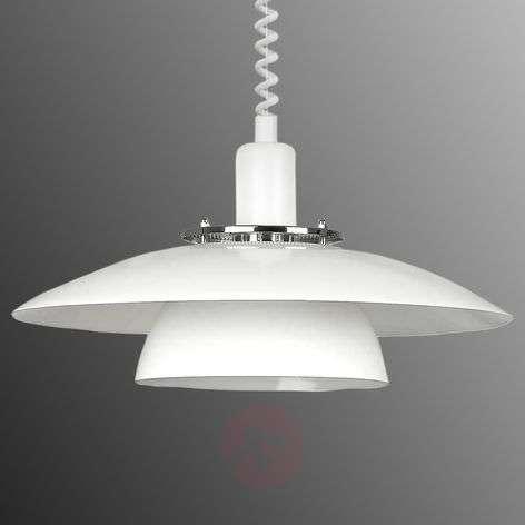 Height-adjustable pendant light Brenda in white