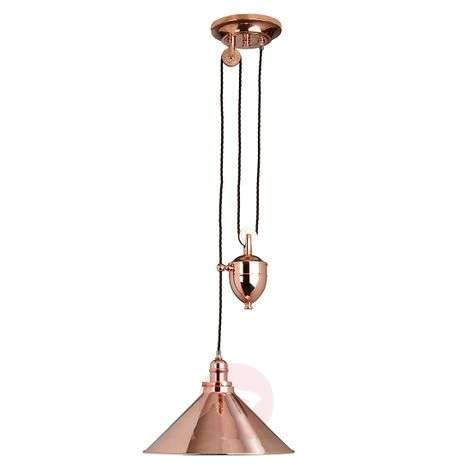 Height-adjustable Provence hanging light
