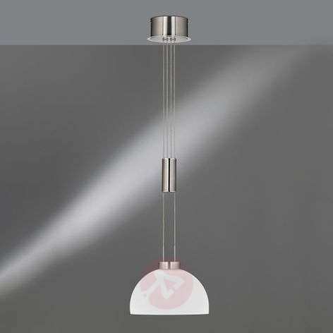 Height-adjustable Shine glass pendant light 1-bulb