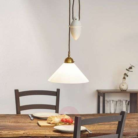 HELENE hanging light with rise and fall mechanism