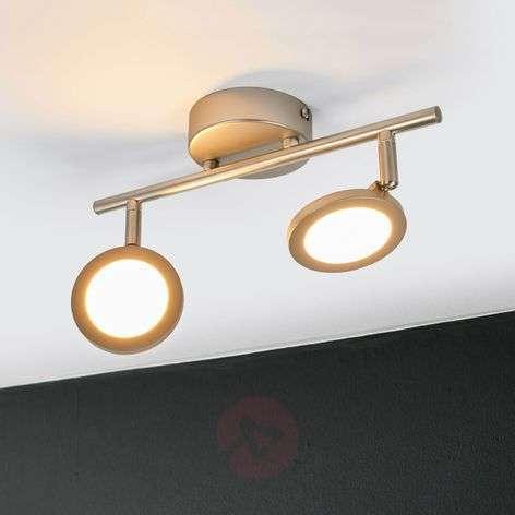 Helina nickel LED ceiling lamp