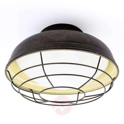 Helmet cage-type ceiling light in vintage design
