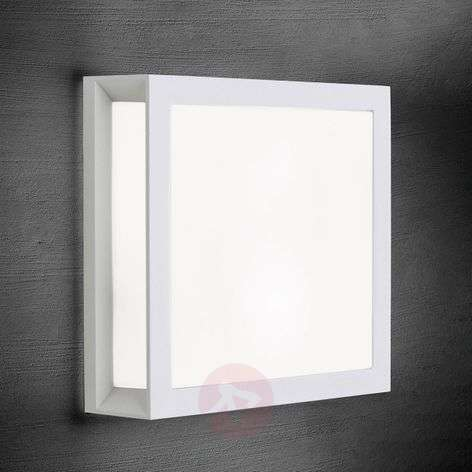 Henry - square outdoor wall light in white