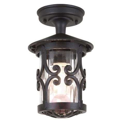 Hereford ceiling lantern for outdoor areas